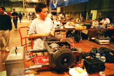 Luke's second 'bot at BattleBots in 2001