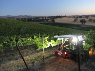 Imaging vineyard in Paso Robles, CA